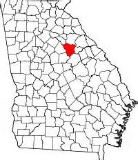 Map Of Georgia With Greene County Highlighted